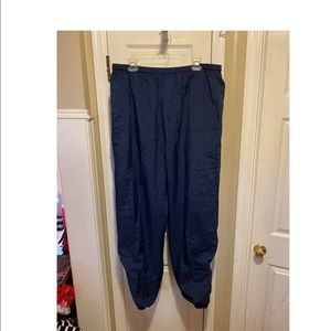 Adidas wind pants with liner-XL-navy blue